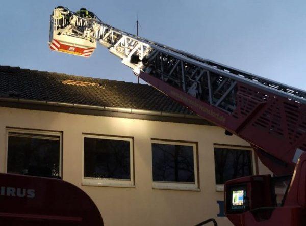 Dach unserer Feuerwache beschädigt