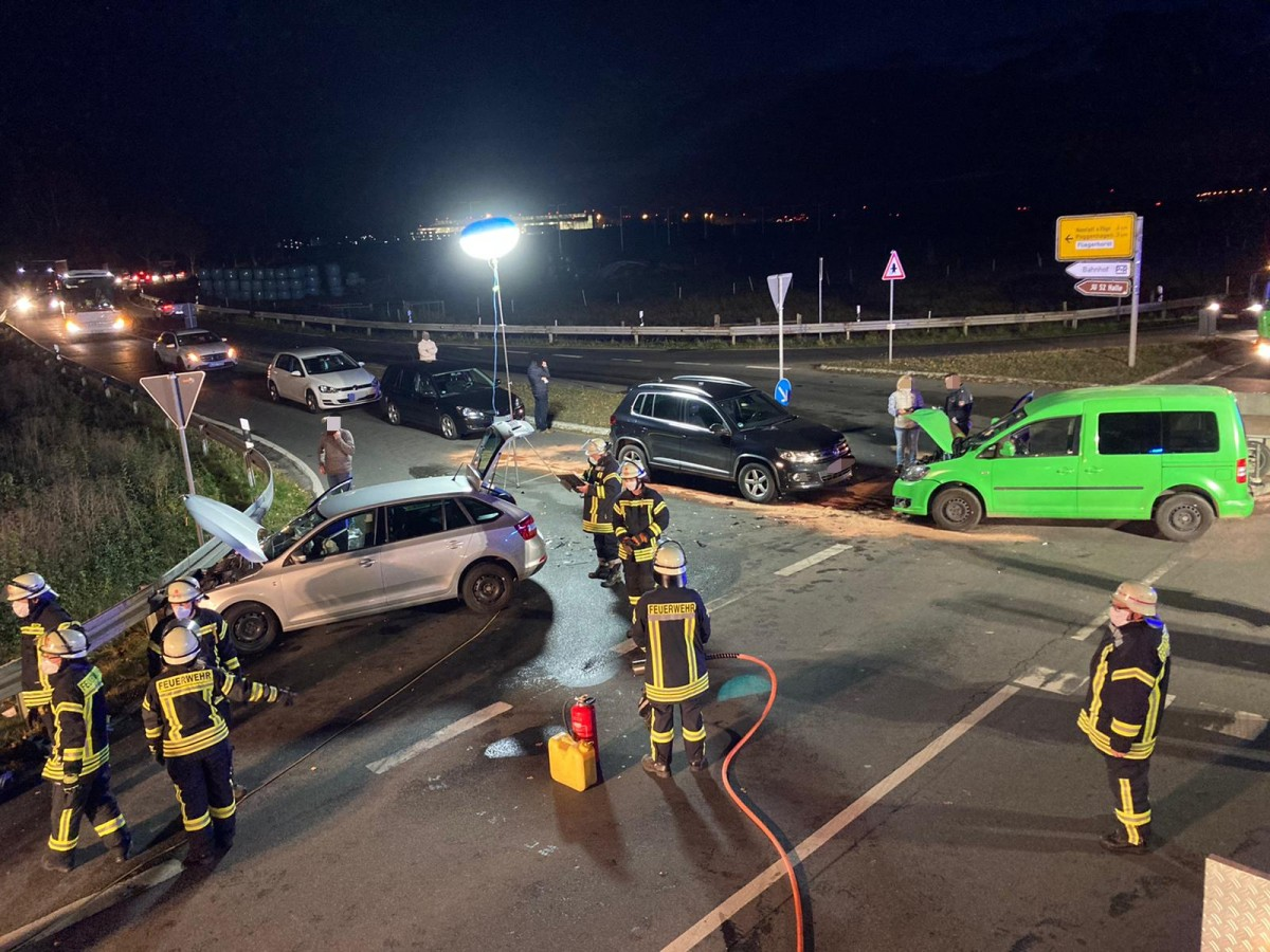 K331: Verkehrsunfall Ortseingang Großenheidorn