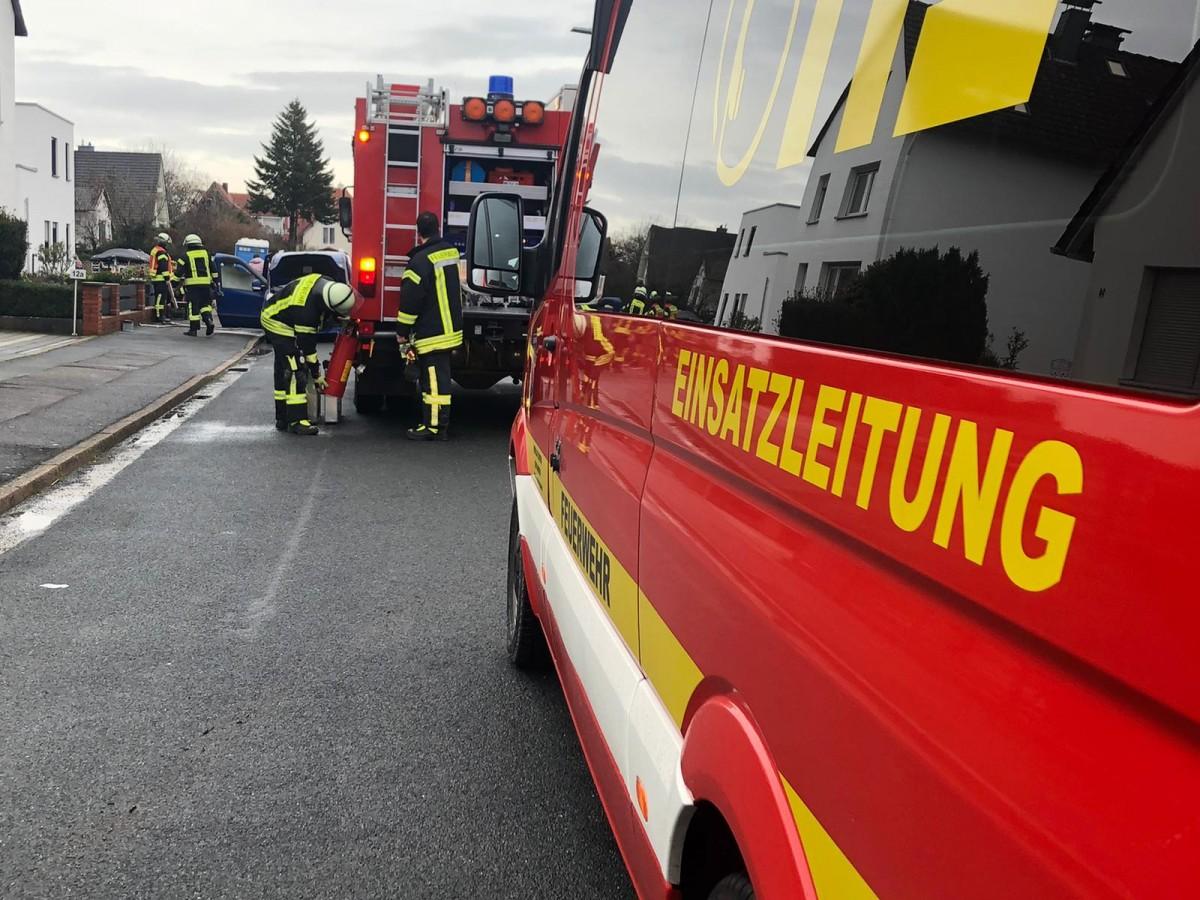 A2 Kolenfeld -> Luthe: Entstehungsbrand LKW